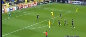 Goal Léo Baptistão 1-0 . Villarreal - Viktoria Plzeň . 01.10.2015