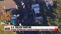 At least ten people killed in shooting at college in Oregon