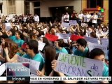 Estudiantes de educación secundaria retoman las protestas en Paraguay