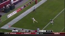 Touchdown incroyable, le joueur attrape le ballon à une main. JJ Worton - UCF - Football américain NFL