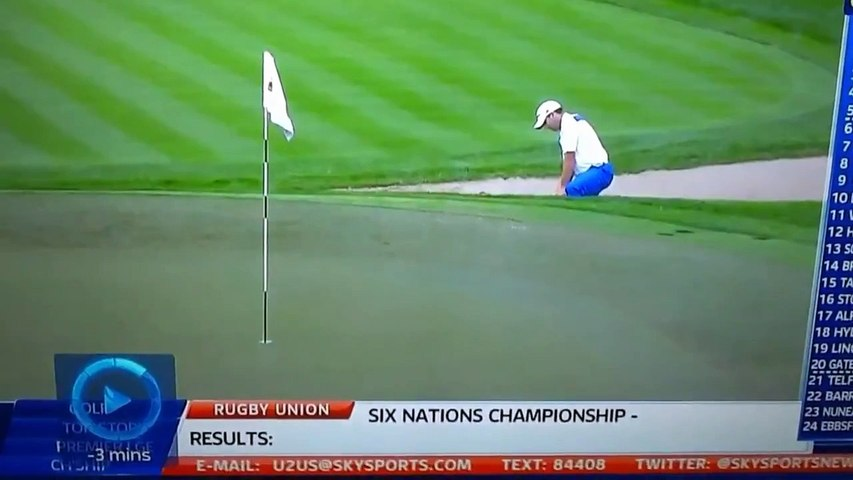 Sergio Garcia Demonstrates How To Rake A Bunker
