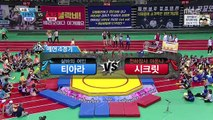150928 T-ARA (티아라) vs SECRET (시크릿) @ MBC Idol Star Athletics (Wrestling)