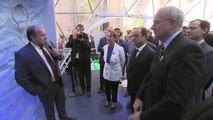 Inauguration du Dôme du climat par François Hollande au ministère de l'Ecologie