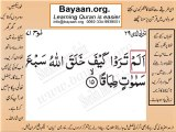 Surrah 071_015 bayaan4all word to word Quran by sheikh imran faiz The easiest way to learn Word by word meanings of Qura