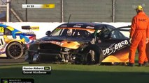 Welch and Abbott Big Crash 2015 BTCC Silverstone Race 3
