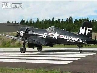 F4U Corsair Doing Fly Bys.