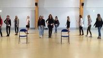 Répétition avant l'élection de miss Normandie