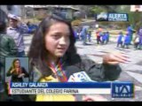 Instituciones educativas realizan simulacro por volcán Cotopaxi