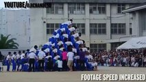 Horrific moment six students injured after 150-strong human pyramid crashes to ground