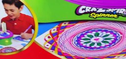 Cra-Z-Art Fun Spin Art Maker Cra-Z-Spiro Spinning Art Stencils & Color Designs Toy Review [Full Episode]