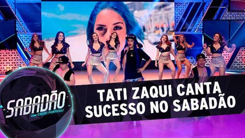 Tati Zaqui canta sucesso no Sabadão!
