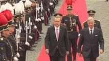 Le roi Philippe reçoit Recep Tayyip Erdogan au palais royal