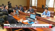 Pres. Park pushes diplomacy as key to peaceful reunification