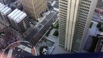 Danse terrifiante de gratte-ciels japonais pendant un sé de magnitude 9.0