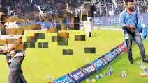 Angry Indian fans throw bottles onto the ground in Cuttack -India vs South Africa at Cuttack on Oct 5 2015