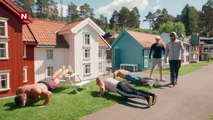 Norwegian Body Builders visit tiny Town to looks like Monsters!