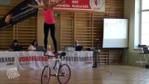 Girl Performs Impressive Bike Tricks - Balancing Act
