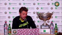 01. Press conference Stanislas Wawrinka 2015 French Open   Final