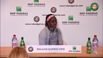 35. Press conference Sloane Stephens 2015 French Open   R32