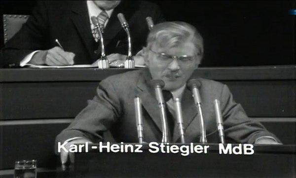 Rede des Bundestagsabgeordneten Karl-Heinz Stiegler