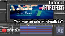 Animar zócalo minimalista en After Effects
