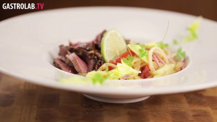How to Make Roast Beef Salad with Miso Dressing