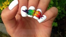 Rainbow Feather Nail Art (P2)