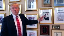 WATCH: Donald Trump gives us a tour of his office