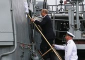 Russian Warships Launch Cruise Missiles Against Islamic State in Syria