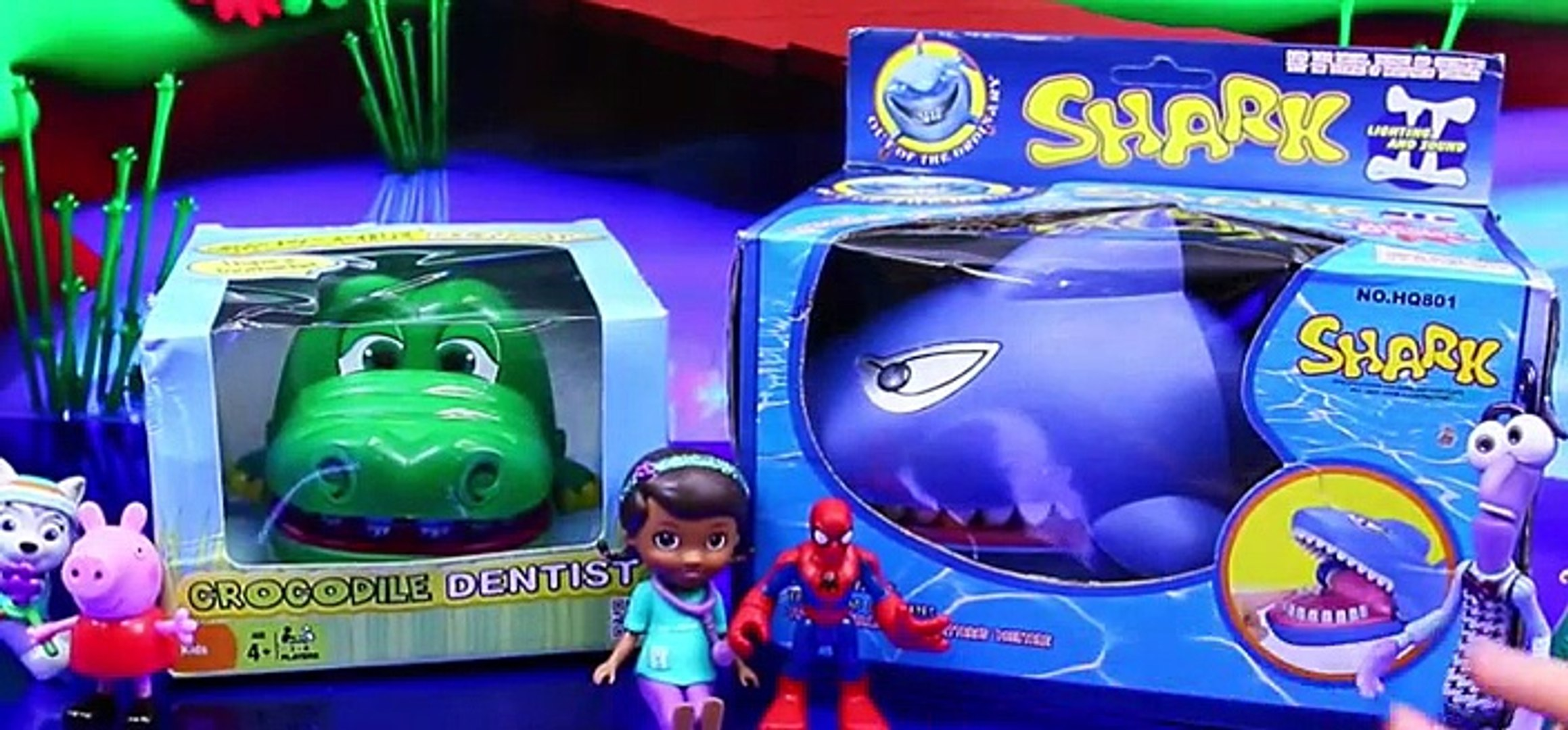 Crocodile Dentist & Shark ATTACK Toys from Inside Out, Frozen, Barbie & Paw Patrol [Full Epi