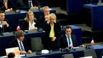 Strasbourg : passe d'armes entre Le Pen et Hollande