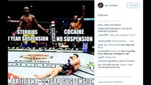 MMA update UFC fighters angry reactions to Nick Diaz 5 year suspension