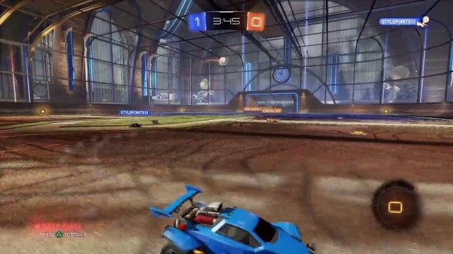 Rocket League epic triple save