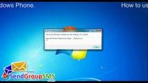 How to send Messages using DRPU Bulk SMS Software via HTC Windows Mobile Phone