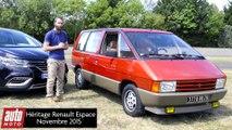 Héritage Renault : Espace 5 (2015) face à l'Espace 1 (1984) - En l'Espace de trente ans