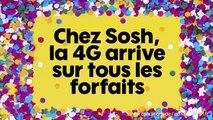 Sosh présente 4G sur tous les forfaits mobile