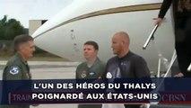 L'un des héros du Thalys poignardé aux États-Unis