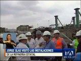 Vicepresidente visita instalaciones de la Refinería de Esmeraldas