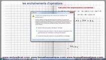 Maths 5ème - Les enchaînements d'opérations Exercice 3