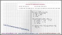 Maths 5ème - Les enchaînements d'opérations Exercice 5