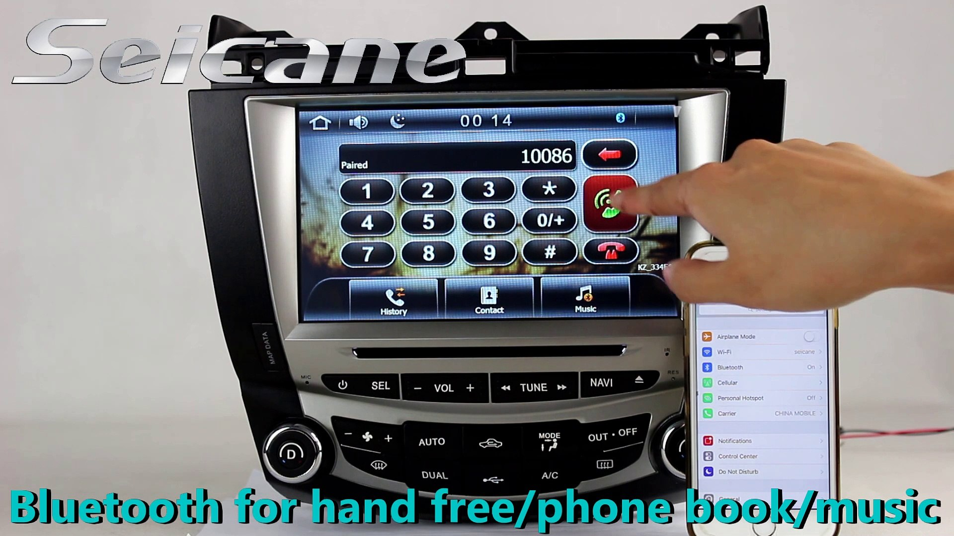 2003 2004-2007 Honda Accord 7 aftermarket stereo in dash dvd player support  USB SD iPhone/iPod Connection