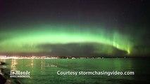 Spectaculaire aurore boréale dans le Minnesota