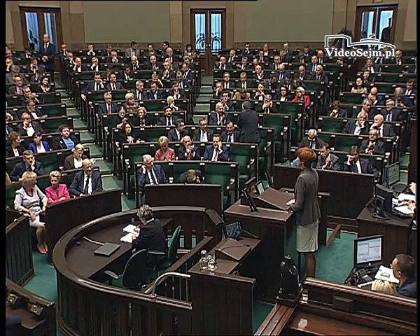 Poseł Elżbieta Rafalska - Wystąpienie z dnia 08 pa�dziernika 2015 roku.