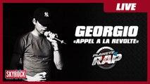 """Georgio """"Appel à la révolte"""" en live dans Planète Rap !"""