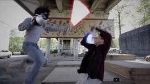 Battle de Sabre-laser énorme... Fans de Star Wars au top!!!