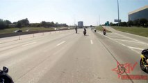 Motorcycle Crashes Street Bike Accident Stuntbike Collision On Highway Wheelie Fail HD Blo