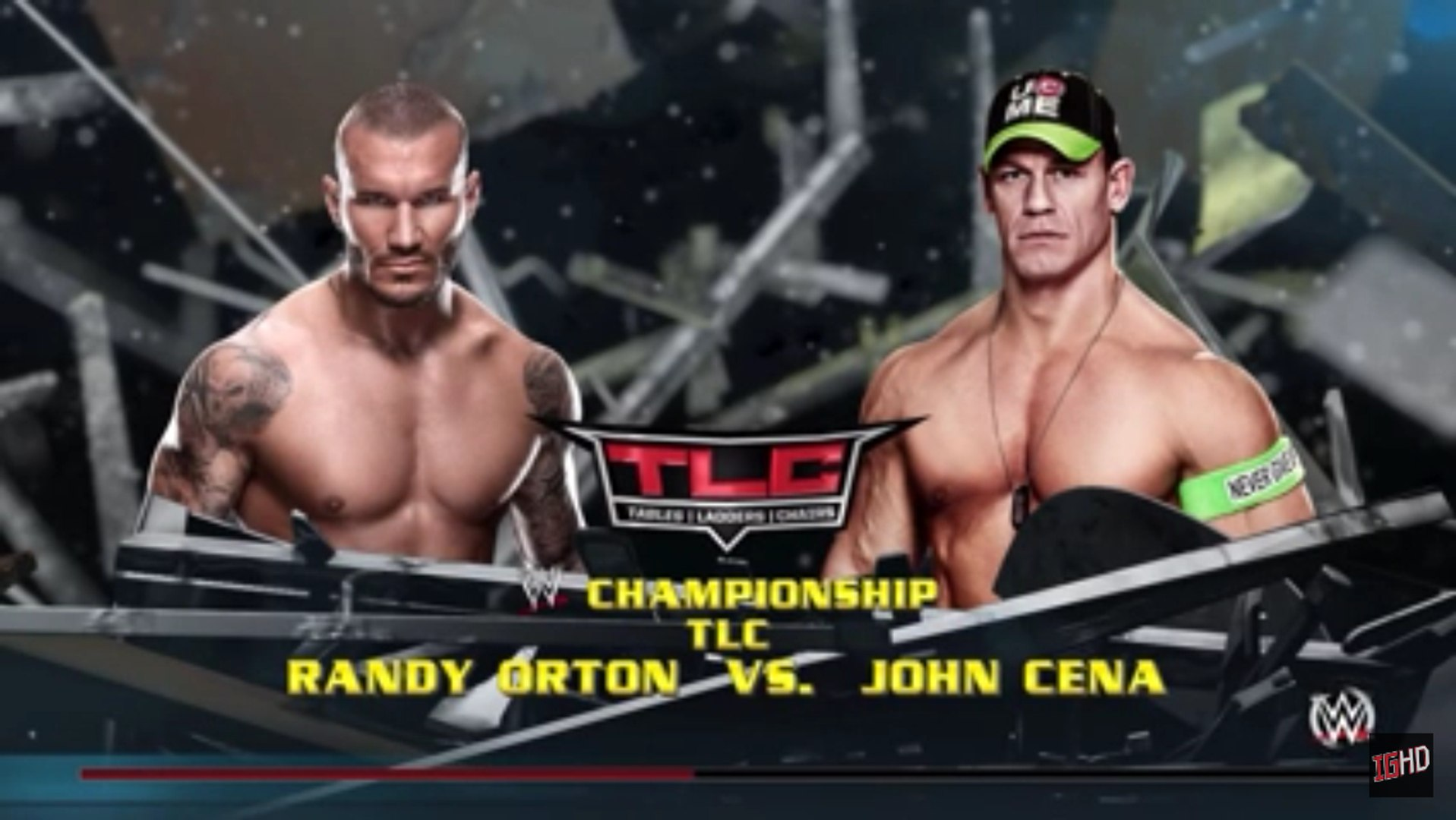 WWE 2K RIVALRIES - Randy Orton vs. John Cena | WWE TLC 2013 | WWE 2K15 Gameplay