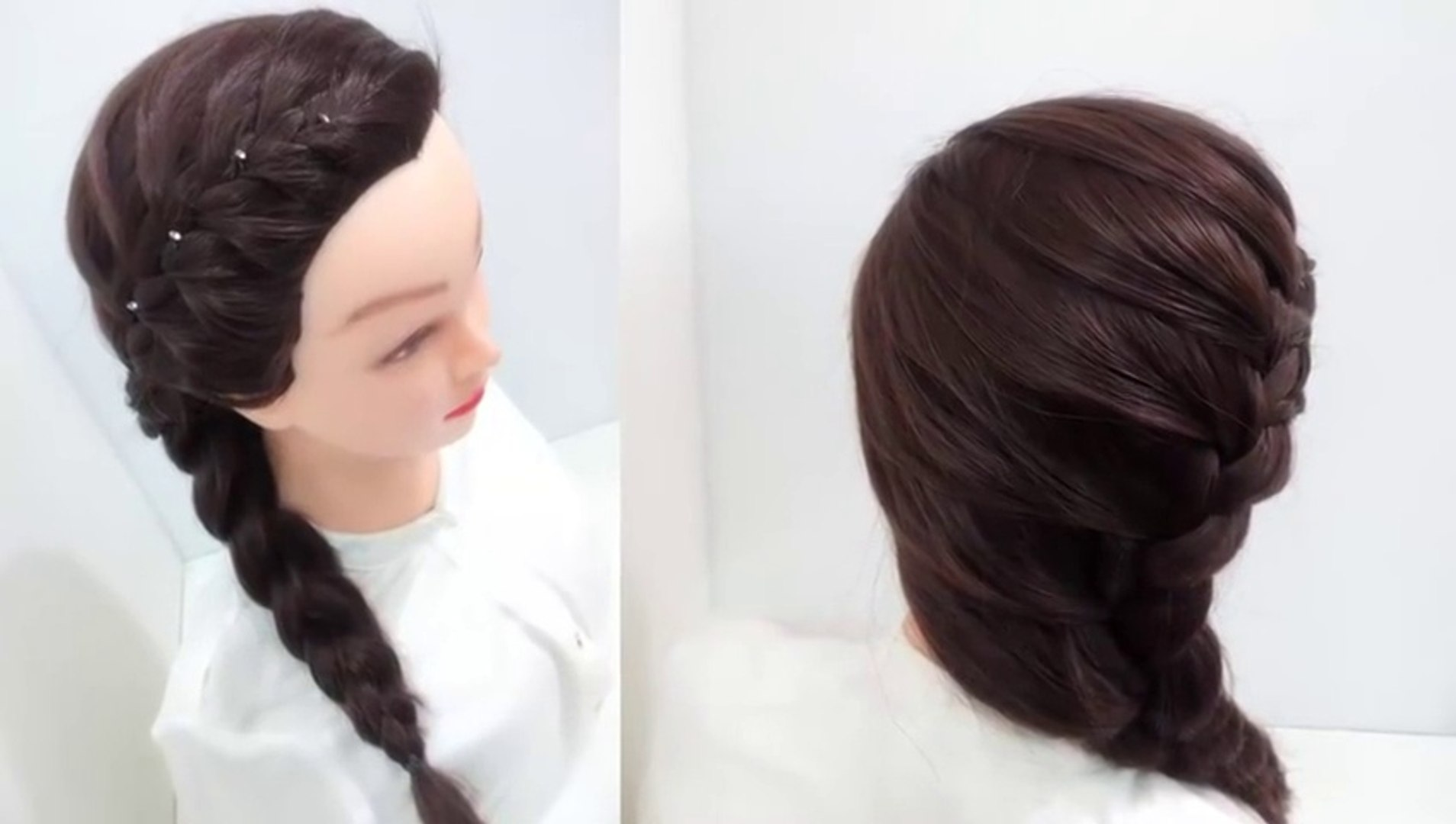 Side Braid Hairstyles For Medium Hair Video Dailymotion