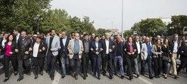 Ankara'daki olay yeri anmasında gerginlik