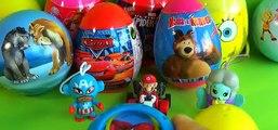 12 surprise eggs Spider Man Disney Cars TOY Story 3 PRINCESS Ice Age SpongeBob Kinder surprise [Full Episode]